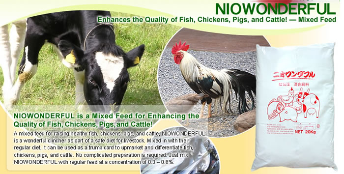 Natural Food Supplement [NIOWONDERFUL] Products Made in Japan by Flora Co., Ltd.