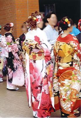 Beatifull kimono dress made by Habuki in Tokamachi Niigata japan